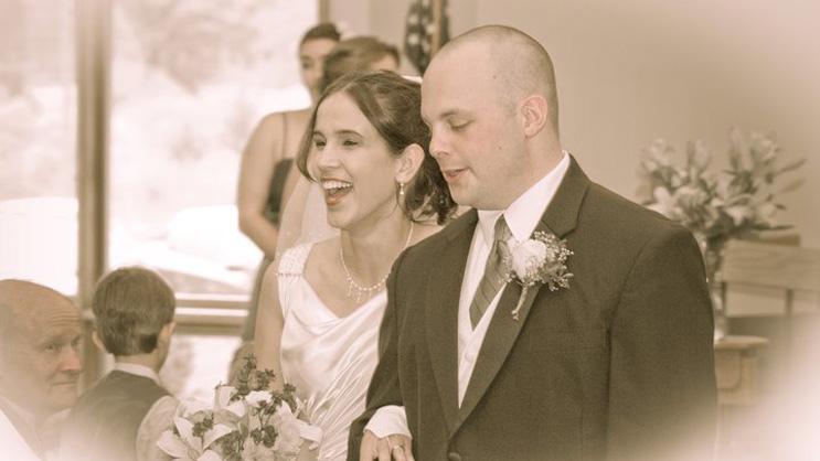 Sarah and Chris Costa at their wedding, May 14, 2011