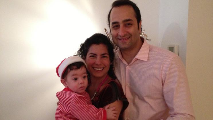 Daniel & Elizabeth Ezra with their son, Leo
